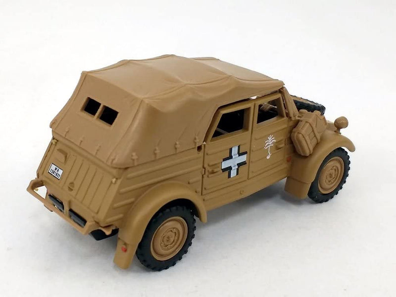 Volkswagen Kübelwagen K Type 82 Soft-Top (Tan) 1:43 Scale Model Right Rear Quarter View