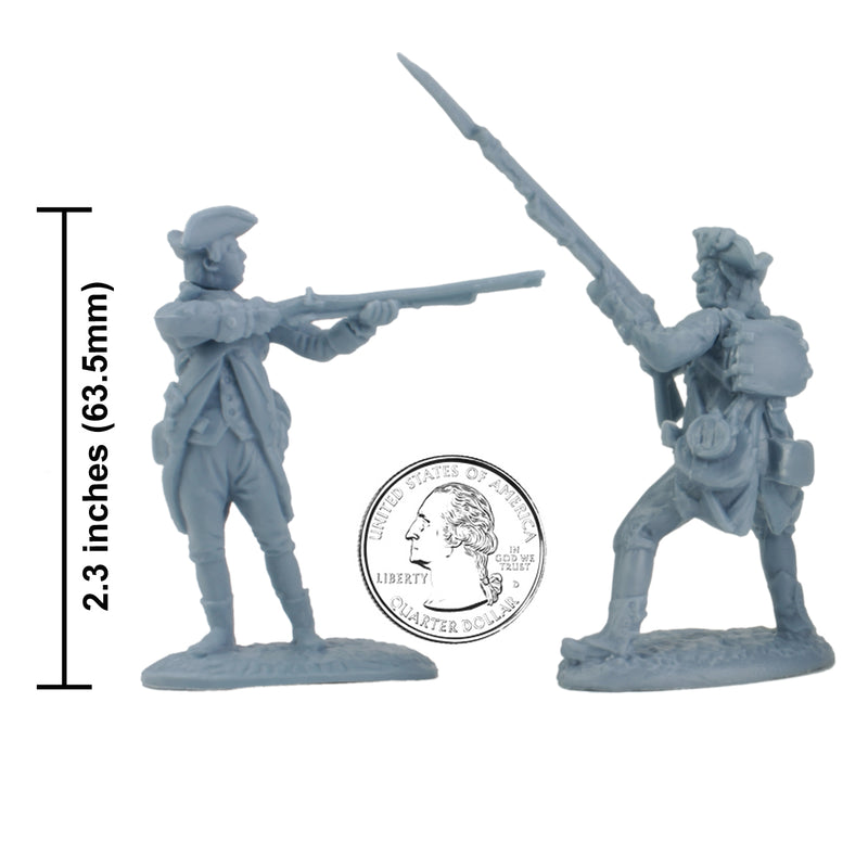 American War Of Independence American Regular Army 1/30 Scale Model Plastic Figures By LOD Enterprises Size Comparison