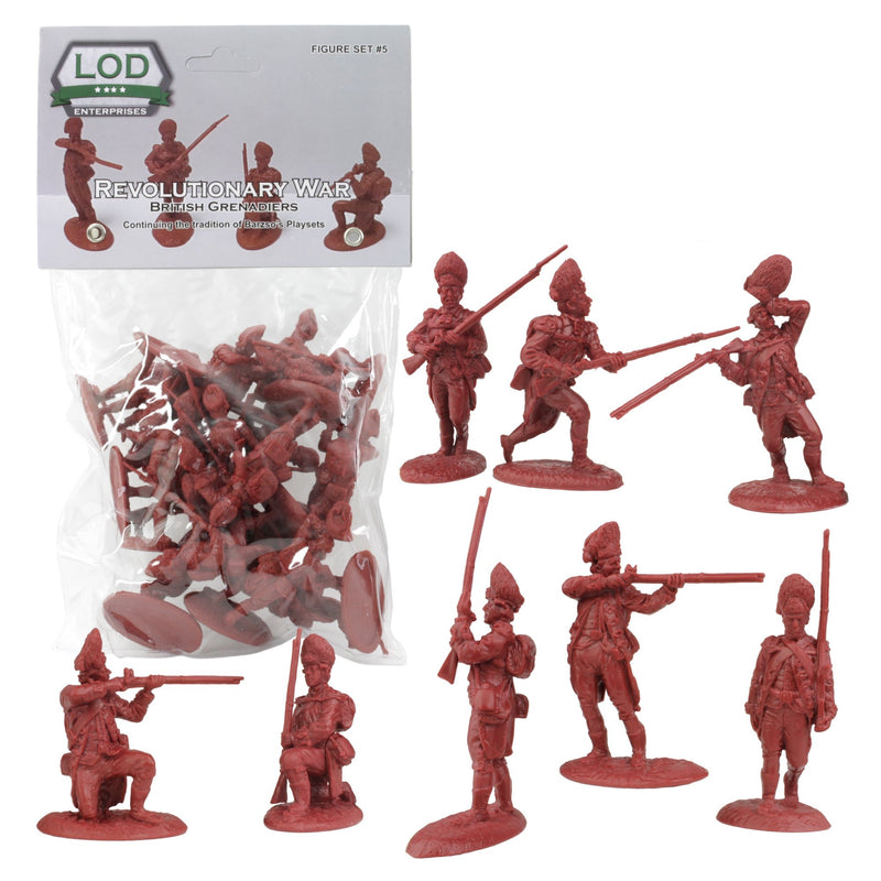 American War Of Independence British Grenadiers 1/30 Scale Model Plastic Figures By LOD Enterprises