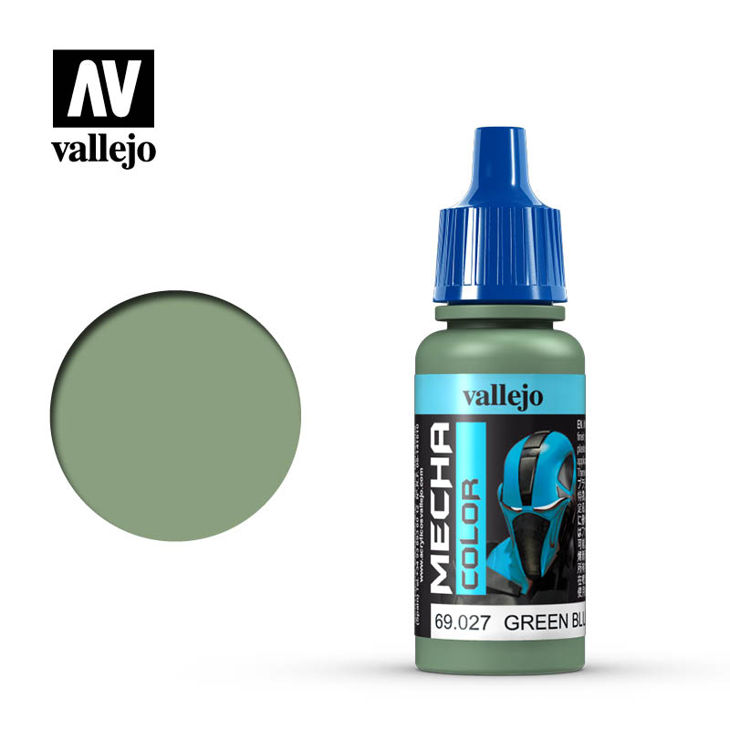 Mecha Color Green Blue Acrylic Paint, 17 ml Bottle By Acrylicos Vallejo