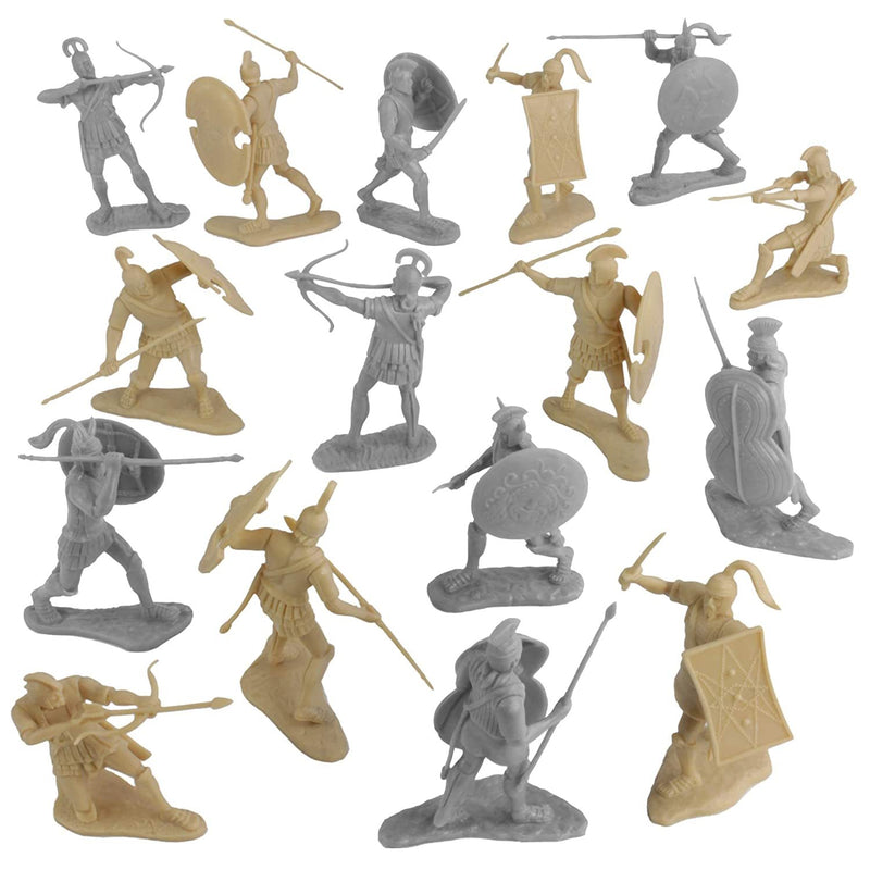 War At Troy Figure Set 1 (Greeks vs Trojans) 1/30 Scale Plastic Figures By LOD Enterprises