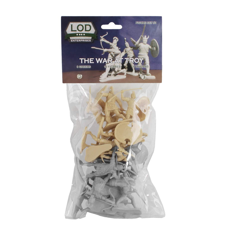 War At Troy Figure Set 1 (Greeks vs Trojans) 1/30 Scale Plastic Figures By LOD Enterprises Packaging