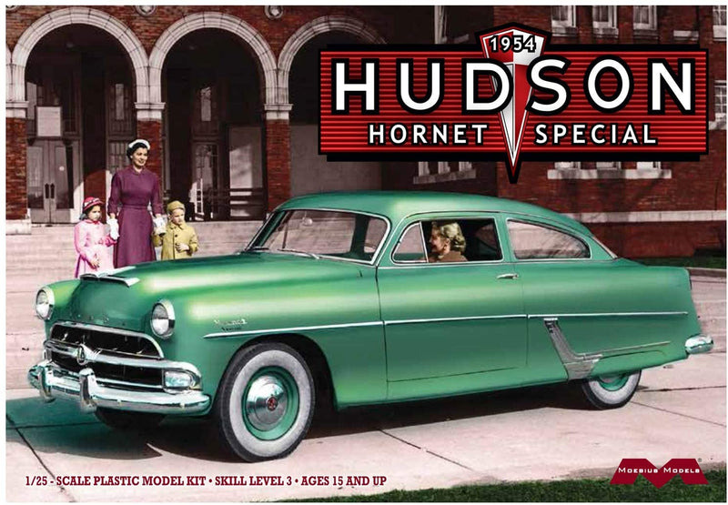1954 Hudson Hornet Club Special 1:25 Scale Model Kit By Moebius Models