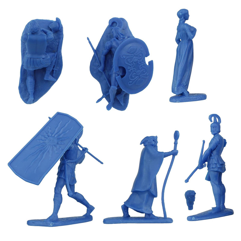 War At Troy Figure Set 3 Heroes Of The Iliad 1/30 Scale Plastic Figures By LOD Enterprises