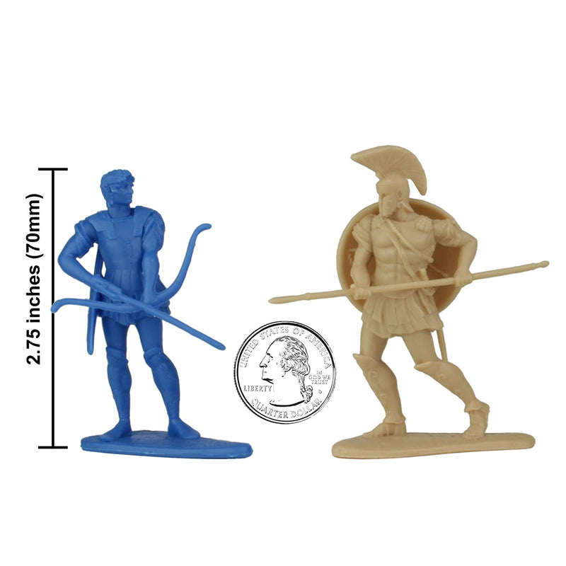 War At Troy Figure Set 3 Heroes Of The Iliad 1/30 Scale Plastic Figures By LOD Enterprises Size Comparison