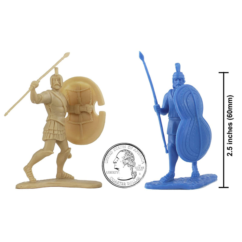 War At Troy Figure Set 1 (Greeks vs Trojans-Blue) 1/30 Scale Plastic Figures By LOD Enterprises Size Comparison
