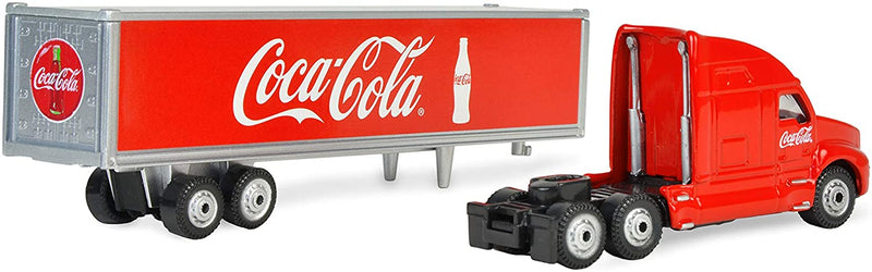 "Long Hauler Tractor Trailer ""Coca-Cola"" 1:87 Scale Diecast Model Detaached Rear View"