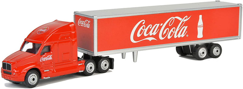 "Long Hauler Tractor Trailer ""Coca-Cola"" 1:87 Scale Diecast Model By Motor City Classics"