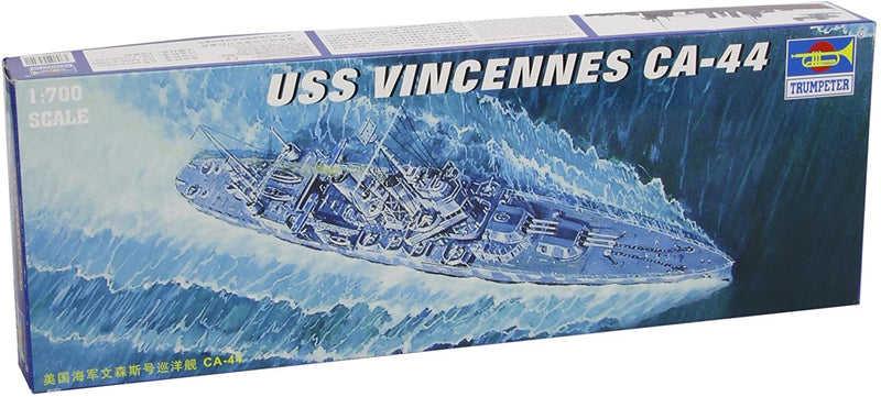 USS Vincennes Heavy Cruiser CA-44, 1:700 Scale Model Kit By Trumpeter