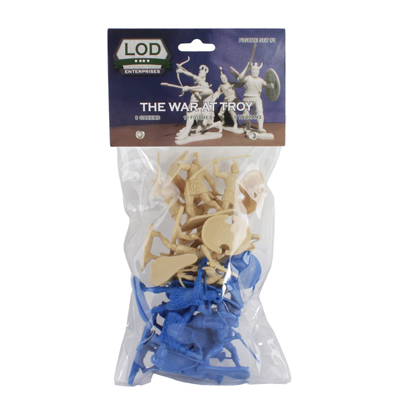 War At Troy Figure Set 1 (Greeks vs Trojans-Blue) 1/30 Scale Plastic Figures By LOD Enterprises Package