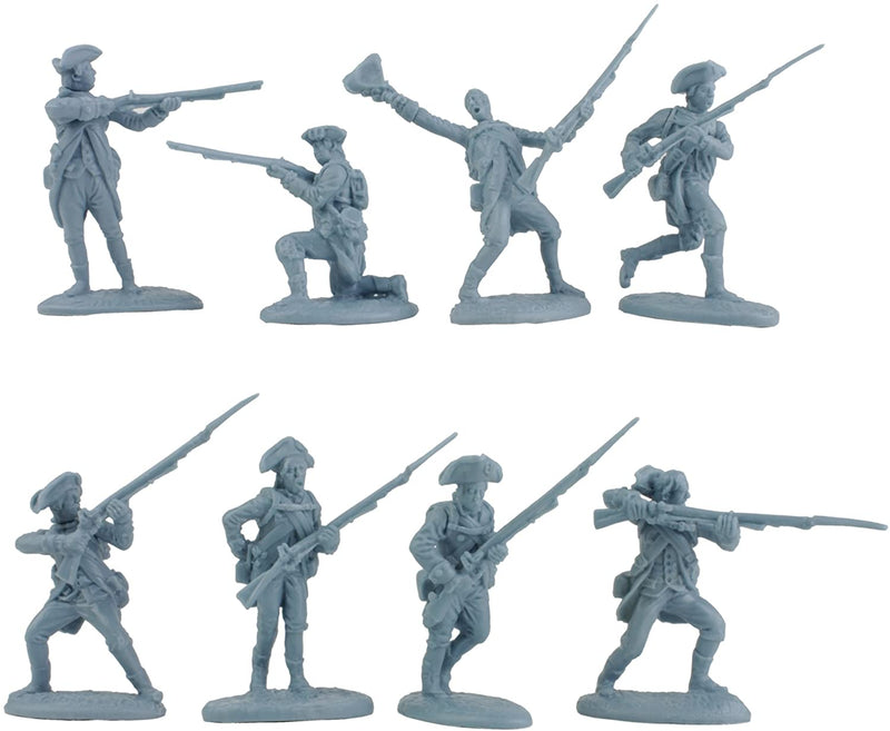 American War Of Independence American Regular Army 1/30 Scale Model Plastic Figures By LOD Enterprises Pose Detail