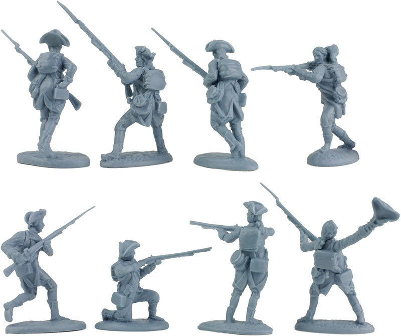 American War Of Independence American Regular Army 1/30 Scale Model Plastic Figures By LOD Enterprises Pose Detail Rear