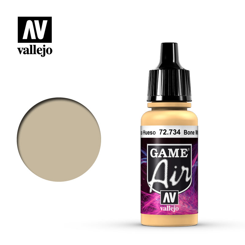 Game Air Bone White Acrylic Paint 17 ml Bottle By Acrylicos Vallejo