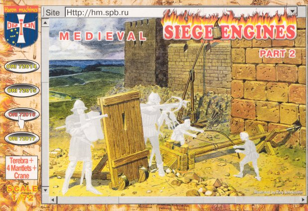 Medieval Siege Engines Part 2, 1/72 Scale Model Kit By Orion Box Cover