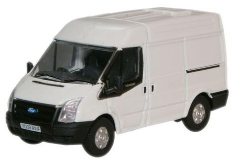 Ford Transit Medium Roof 2006 (Frozen White) 1:76 (OO)  Scale Model By Oxford Diecast