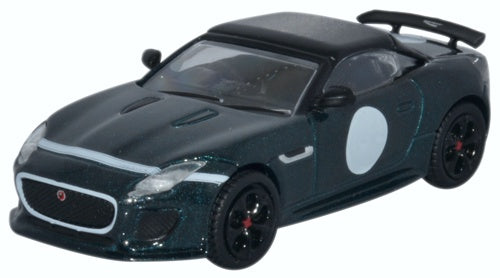 Jaguar F-Type Project 7 British Racing Green 1:76 Scale Model By Oxford Diecast