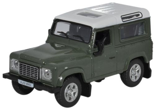 Land Rover Defender 90 – Aintree Green/White 2013,1:76 Scale Model By Oxford Diecast