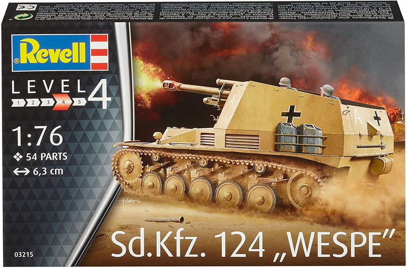 Sd.Kfz. 124 Wespe, 1/76 Scale Model Kit Box Front