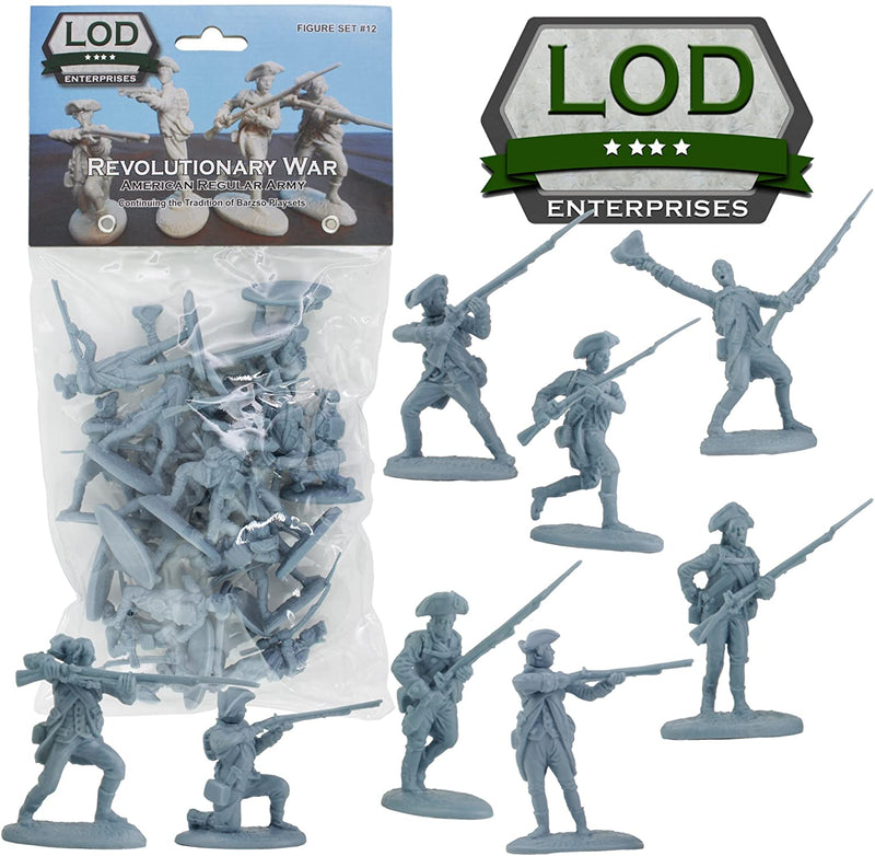 American War Of Independence American Regular Army 1/30 Scale Model Plastic Figures By LOD Enterprises