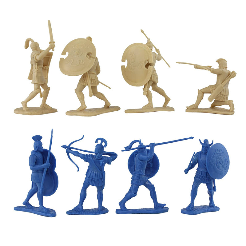 War At Troy Figure Set 1 (Greeks vs Trojans-Blue) 1/30 Scale Plastic Figures By LOD Enterprises Pose Details