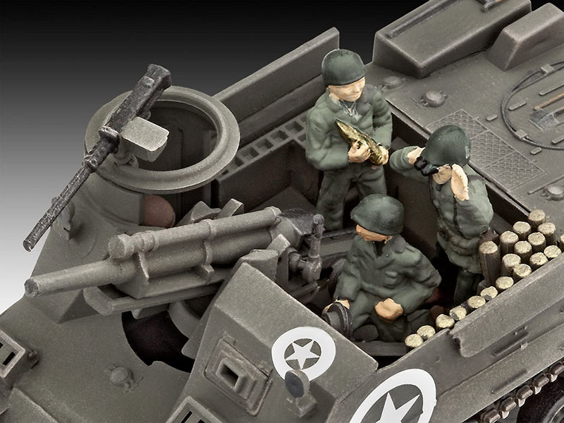 M7 HMC Priest 1/76 Scale Model Kit Gun Detail