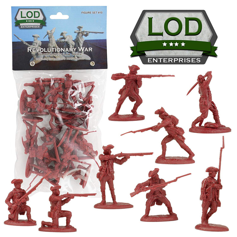 American War Of Independence British Regular Army 1/30 Scale Model Plastic Figures By LOD Enterprises