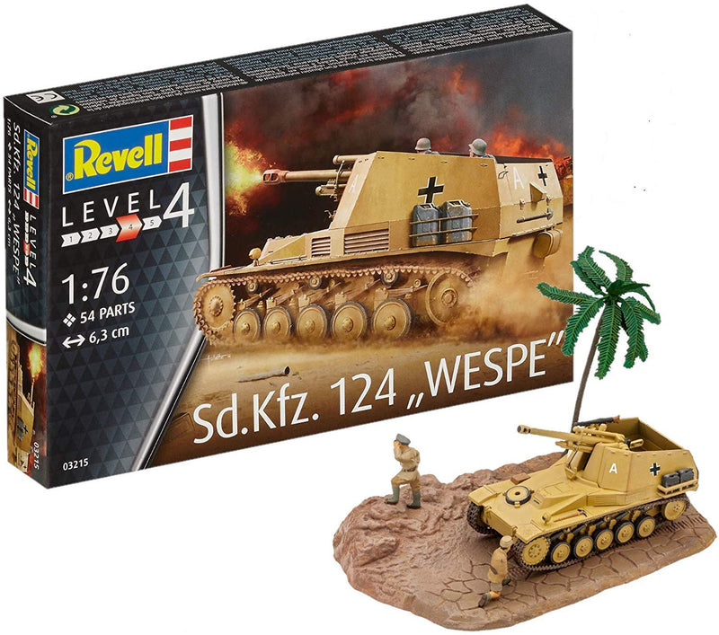 Sd.Kfz. 124 Wespe, 1/76 Scale Model Kit By Revell Germany