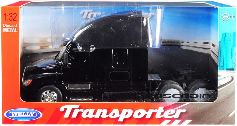 Freightliner Cascadia Sleeper Cab (Black) 1:32  Scale Model By Welly Box