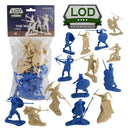 War At Troy Figure Set 1 (Greeks vs Trojans-Blue) 1/30 Scale Plastic Figures By LOD Enterprises