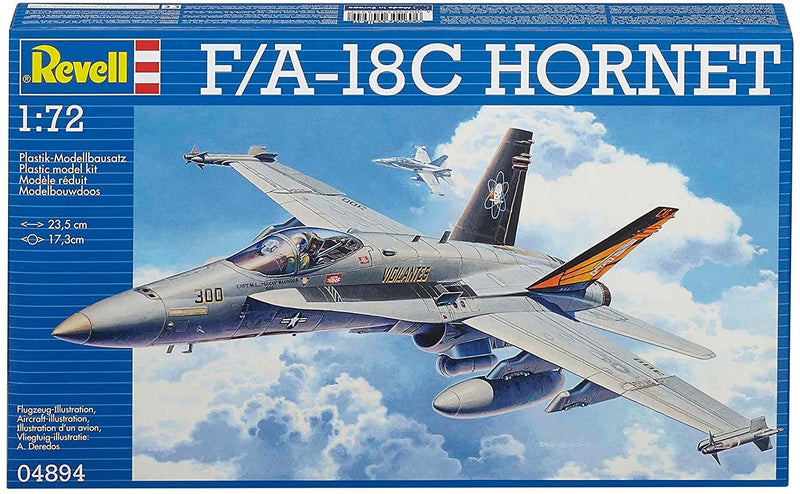 Boeing F-18C Hornet 1:72 Scale Model Kit By Revell Germany