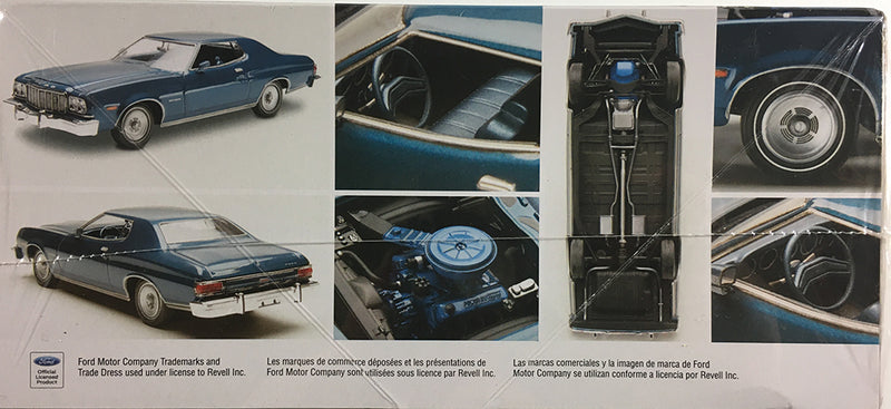 1976 Ford GranTorino 1:25 Scale Model Kit By Revell Box Side