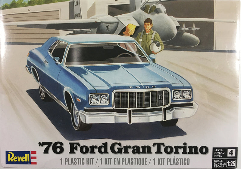 1976 Ford GranTorino 1:25 Scale Model Kit By Revell Box Cover