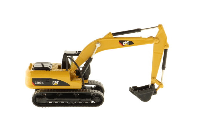 Caterpillar 320D L Hydraulic Excavator 1:87 (HO) Scale Model By Diecast Masters Right Side View