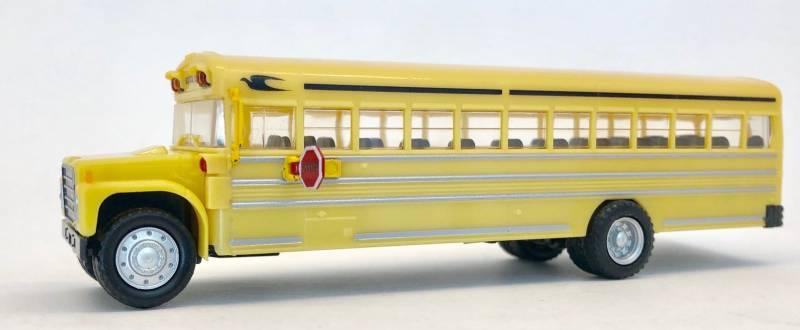 International Harvester School Bus 1:87 (HO) Scale Model By Promotex