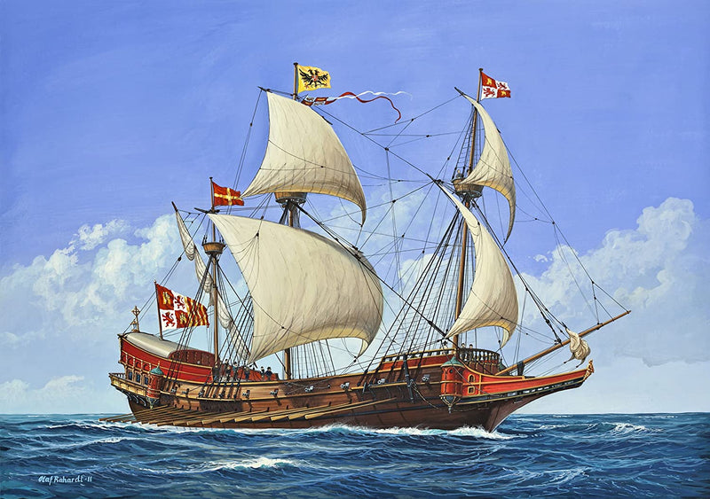 Spanish Galleon 1/450 Scale Model Kit Box Art