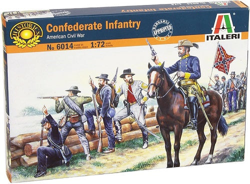 American Civil War Confederate Infantry 1861, 1/72 Scale Plastic Figures By Italeri