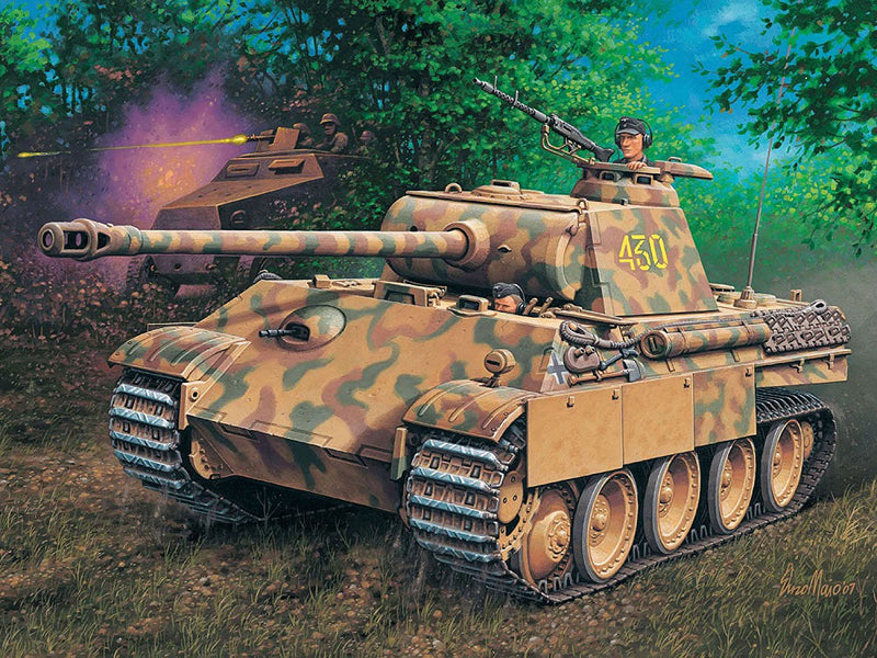 PzKpfw V Panther Ausf. G 1/72 Scale Model Kit Art Work