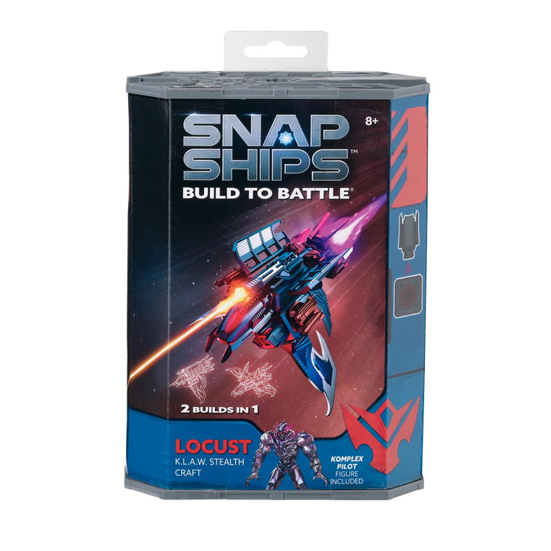 Snap Ships Locust K.L.A.W. Stealth Craft Kit Box Front