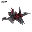 Snap Ships Locust K.L.A.W. Stealth Craft Kit Alternate Build