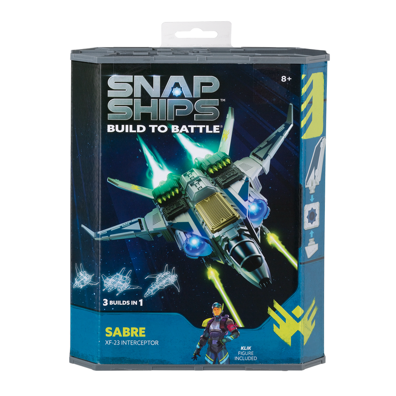 Snap Ships Sabre X-23 Interceptor Kit Box Front