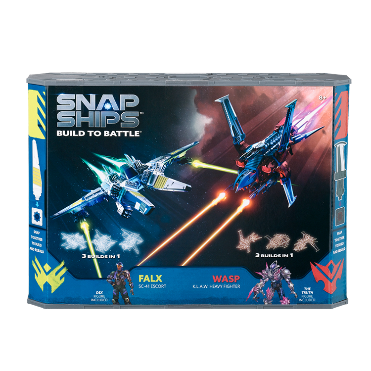 Snap Ships Wasp K.L.A.W. Heavy Fighter / Falx SC-41 Escort Battle Set Kit Box Front