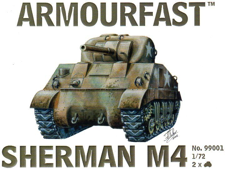 Sherman M4 Battle Tank 1/72 Scale Model Kit By Armourfast