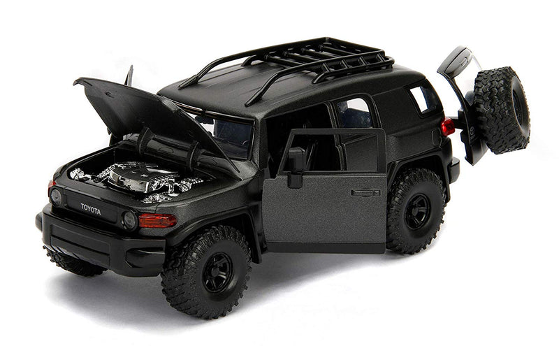 Toyota FJ Cruiser (Charcoal Gray) 1:24 Scale Diecast Car By Jada Toys Open Doors & Hood