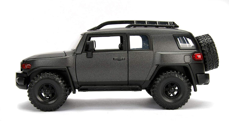 Toyota FJ Cruiser (Charcoal Gray) 1:24 Scale Diecast Car By Jada Toys Left Side View