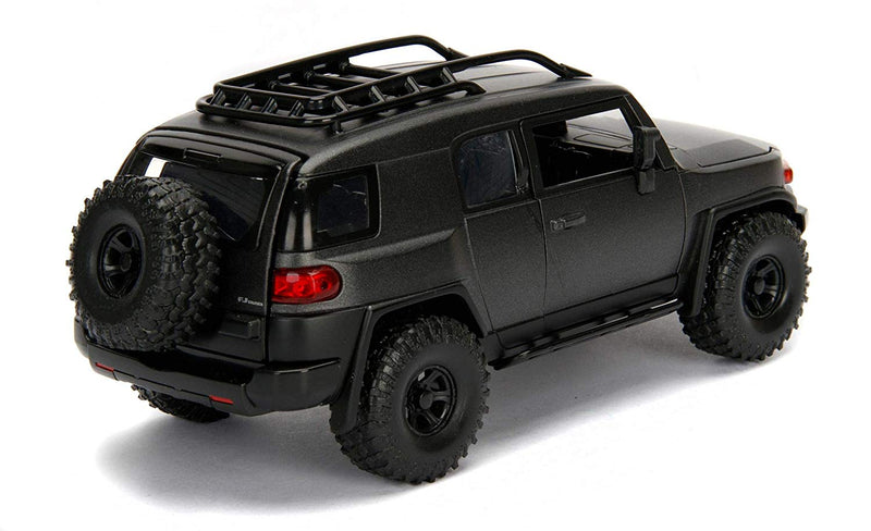 Toyota FJ Cruiser (Charcoal Gray) 1:24 Scale Diecast Car By Jada Toys Right Rear View