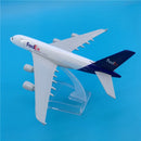 Airbus A380 Freighter Fed Ex 1:400 Scale Model By Hyinuo Left Top View