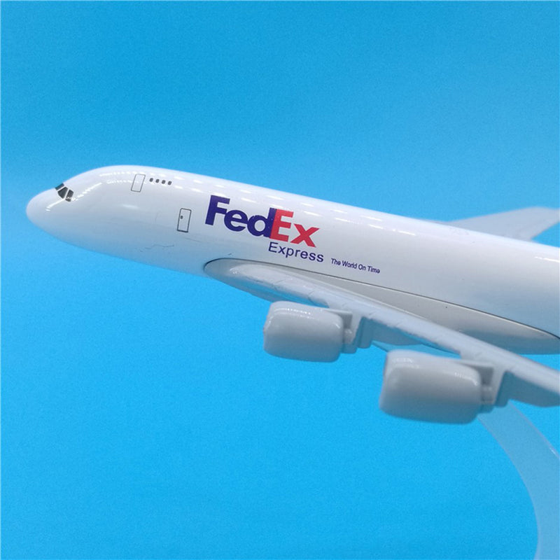 Airbus A380 Freighter Fed Ex 1:400 Scale Model By Hyinuo Left Size Front View