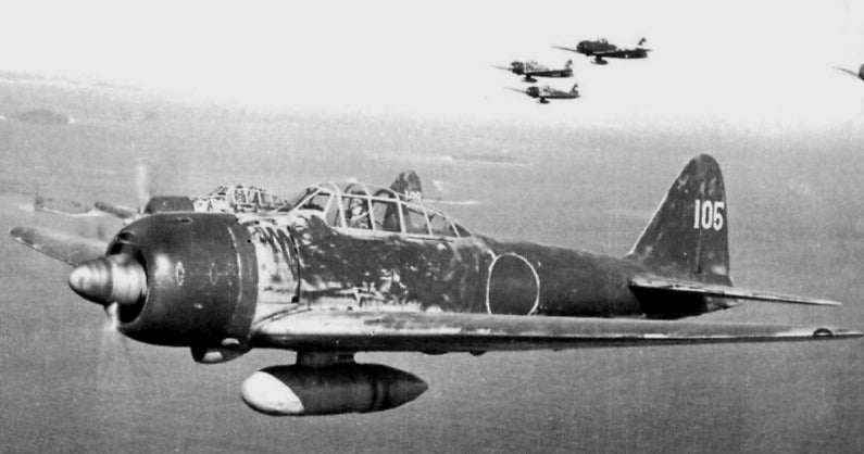 A6M3 Model 22 Over Solomon Islands May 1943 Tail Code UI-105 Flow By Nishizawa