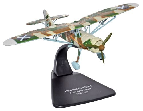 Henschel Hs 126A, Legion Condor 1938, 1:72 Scale Model By Oxford Diecast