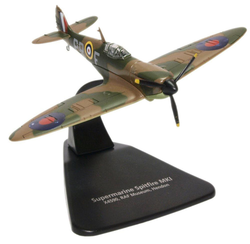 Supermarine Spitfire MK I, No 609 (West Riding) Squadron RAF, 1940,1:72 Scale Model By Oxford Diecast